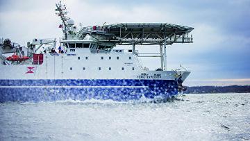 Исследование морского дна с судна Stril Explorer