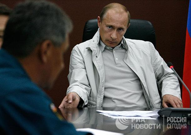 Владимир Путин на совещании во Владикавказе по вопросу Южной Осетии