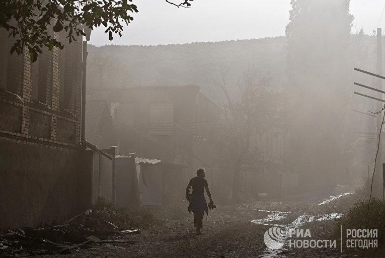 Работа фотокорреспондента иностранных СМИ в зоне грузино-югоосетинского конфликта