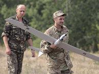 Украинский беспилотник во время учений
