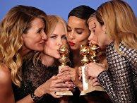 Актеры на церемонии вручения премии «Золотой глобус»