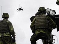 Военные учения Aurora 17 на шведском острове Готланд