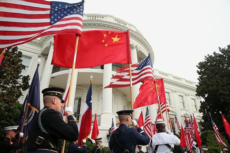 Подготовка к встречи Си Цзиньпина в Белом доме в Вашингтоне