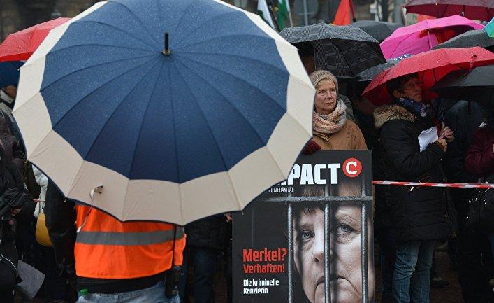 Акция движения PEGIDA в Дрездене