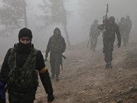 Бойцы Свободной сирийской армии к северо-востоку от Африна, Сирия. 23 января 2018