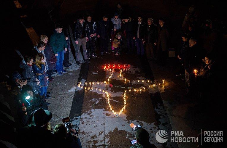 Акция в память о погибшем в Сирии пилоте Су-25