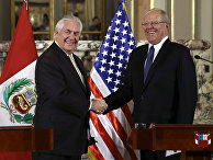 Госсекретарь США Рекс Тиллерсон и президент Перу Педро Пабло Кучински