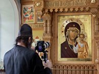 Фотофиксация мироточения Казанской иконы Божией Матери во Всехсвятском скиту Валаамского монастыря