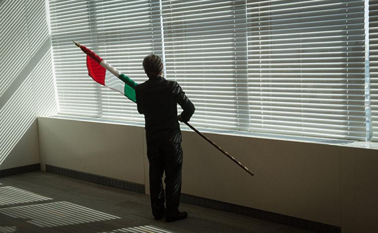 Флаг Венгрии в штаб-кваритре ООН