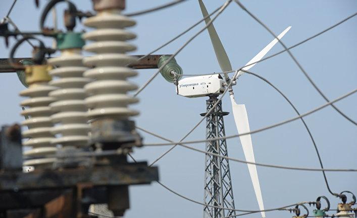 Ветровые электростанции в поселке Мирный