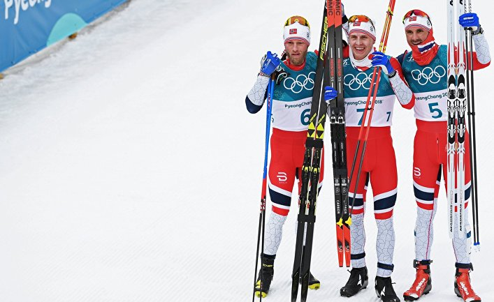 Олимпиада 2018. Лыжные гонки. Мужчины. Скиатлон