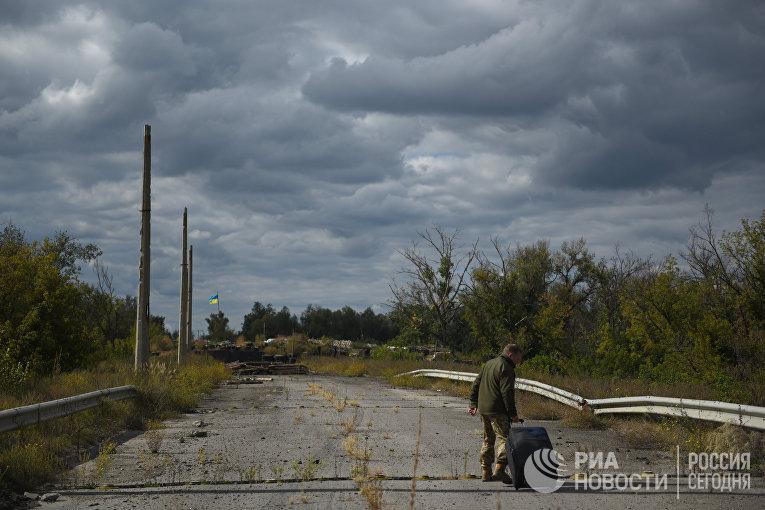 Обмен военнопленными между ДНР, ЛНР и Украиной в городе Счастье