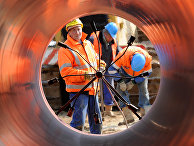 Сварка труб на строительстве газопровода в Германии