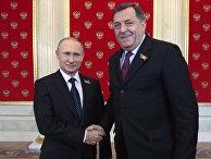 Церемония встречи президентом России В.Путиным глав иностранных делегаций и почетных гостей