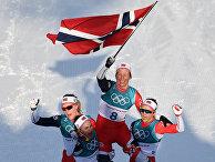 Норвежский лыжники на зимних Олимпийскиих играх