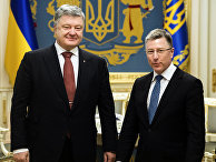 Президент Украины Петр Порошенко и специальный представитель США по Украине Курт Волкер в Киеве