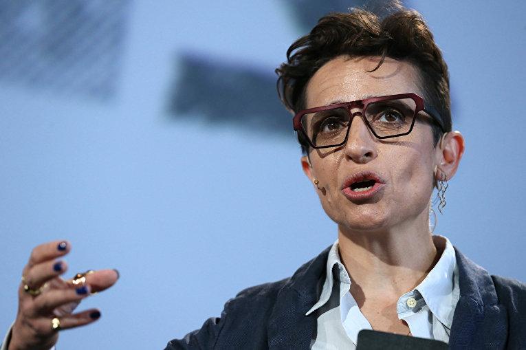 Российская писательница Маша Гессен
