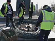 В Киеве вновь залили цементом Вечный огонь