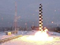 Старт новой российской межконтинентальной баллистической ракеты
