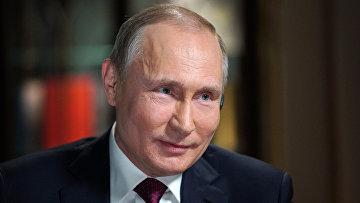 Президент РФ Владимир Путин дает интервью журналисту американского телеканала NBC Мегин Келли в Калининграде. 2 марта 2018