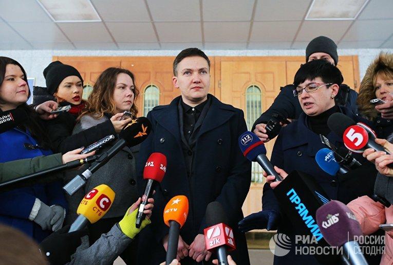 Брифинг Н. Савченко в Киеве