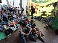 Продолжается акция против закона о статусе русского языка в Киеве