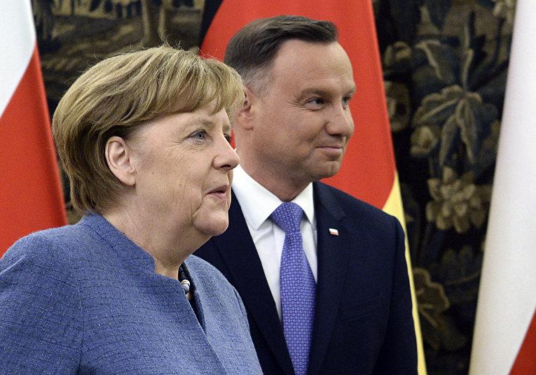 Канцлер Германии Ангела Меркель и президент Польши Анджей Дуда