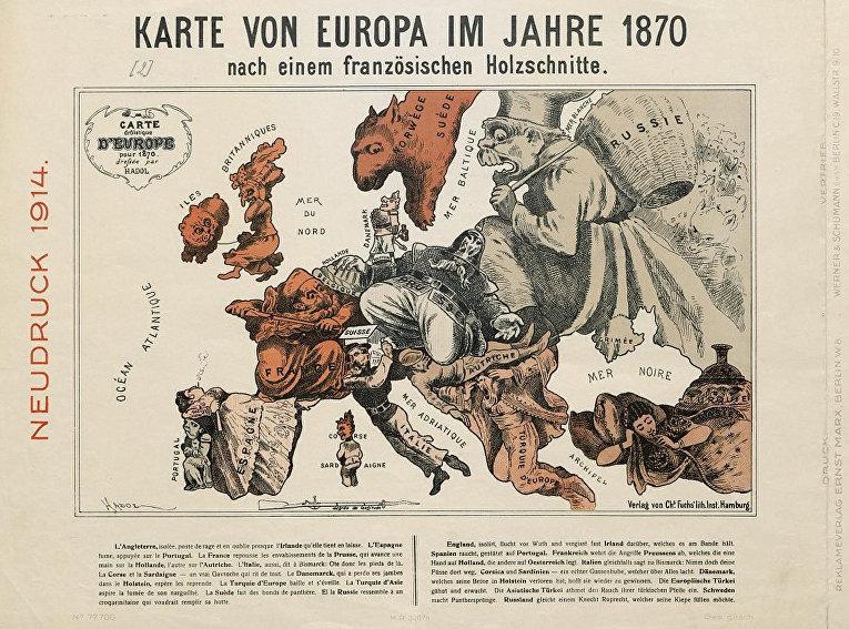 Карта часть проекта «Европиана, 1914-18» Берлинской государственной библиотеки