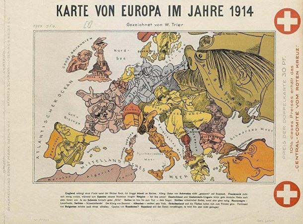 Немецкая карикатура 1914 года