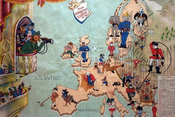 Дрессировщик на португальской карте