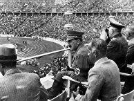 Джозеф Геббельс и Адольф Гитлер во время Олимпийских игр в Берлине