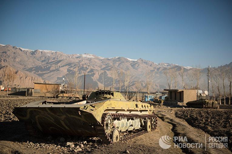 Старая советская военная техника в провинции Бамиан в Афганистане