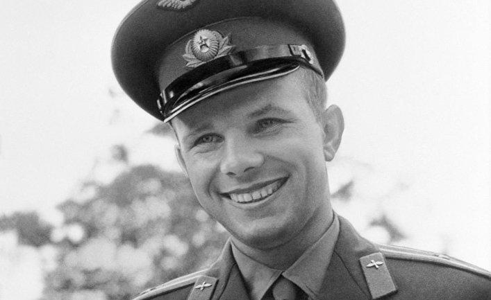 Летчик-космонавт СССР Юрий Гагарин