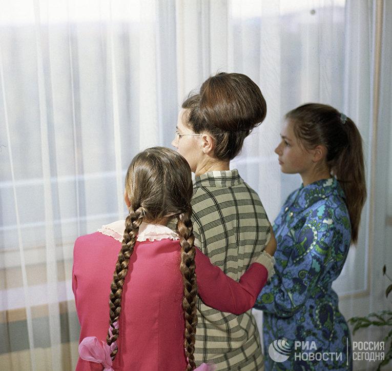 Валентина Гагарина с дочерьми