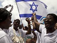 Нигерийские христиане во время празднования 64-й годовщины независимости Израиля в Тель-Авиве