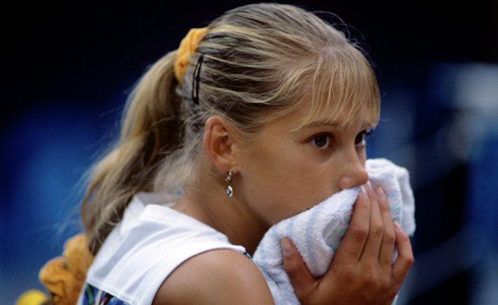Самая юная участница соревнований россиянка Анна Курникова