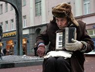 Попрошайка в Москве
