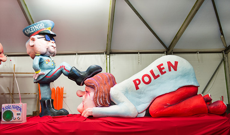Скультурная композиция «Смена правительства в Польше»