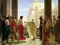 Понтий Пилат показывает подвергшегося бичеванию Иисуса жителям Иерусалима