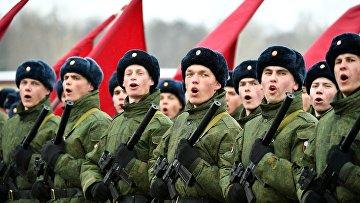 Репетиция войск Росгвардии, участвующих в Параде Победы