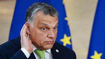 Премьер-министр Венгрии Виктор Орбан в Брюсселе