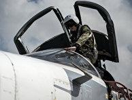 """Российский фронтовой бомбардировщик Су-24 готовится к вылету с авиабазы """"Хмеймим"""" в сирийской провинции Латакия. Архивное фото"""