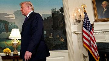 Президент США Дональд Трамп сделал заявление по поводу ситуации в Сирии