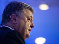 Президент Украины Петр Порошенко выступает на Всемирном экономическом форуме в Давосе. 25 января 2018
