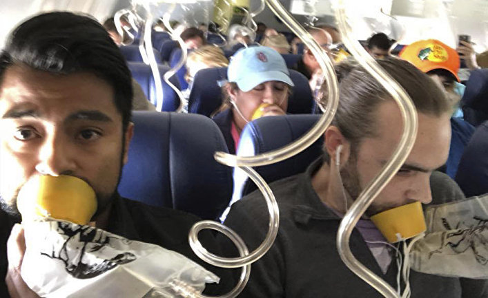 Пассажиры Southwest Airlines Boeing 737 во время инциндента