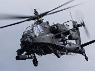 """Вертолет AH-64 Apache на международных военных учениях """"Summer Shield XIV"""" в Латвии"""