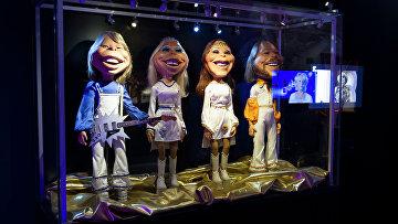 Куклы участников группы ABBA в музее Стокгольма