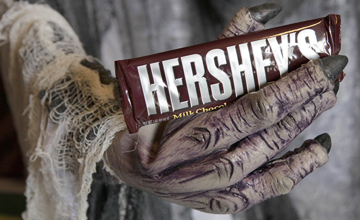 Шоколад Hershey во время праздника Хэллоуин в Огайо