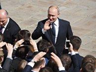Президент РФ Владимир Путин после церемонии инаугурации в Кремле. 7 мая 2018