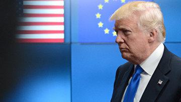 Президент США Дональд Трамп в Брюсселе